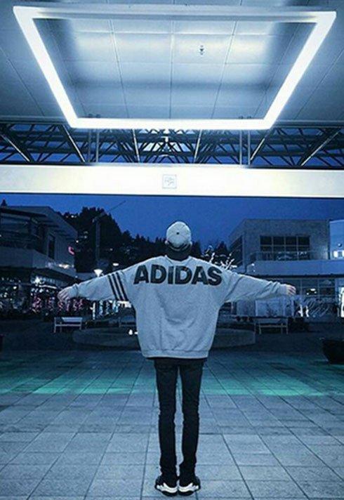 top fashion marketing graduate jake jang adidad sweatshirt