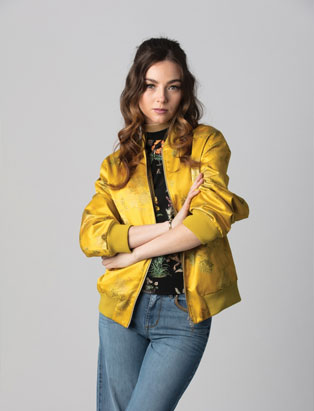 styling by jessica clark fashion marketing yellow bomber