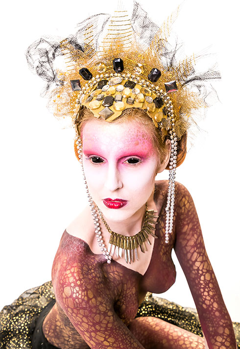 top makeup instructor bodypainter daemon cadman alien queen airbrush makeup