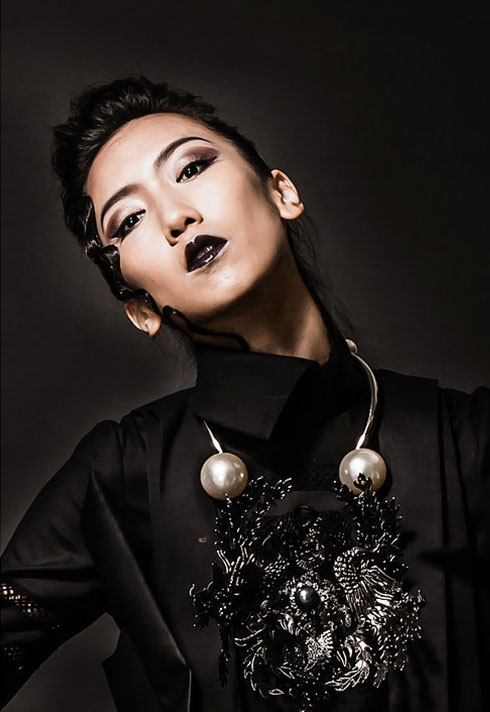 daisy hsiang global makeup graduate dark editorial makeup