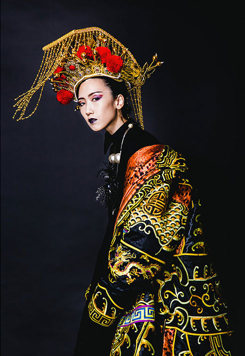 daisy hsiang global makeup graduate headpiece high fashion