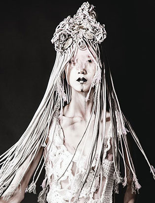 daisy hsiang global makeup graduate ghostly editorial makeup