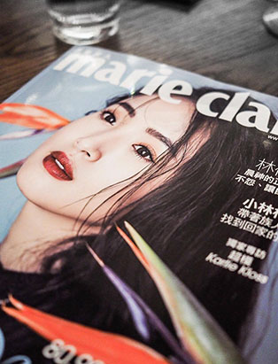 daisy hsiang global makeup graduate featured in marie claire taiwan