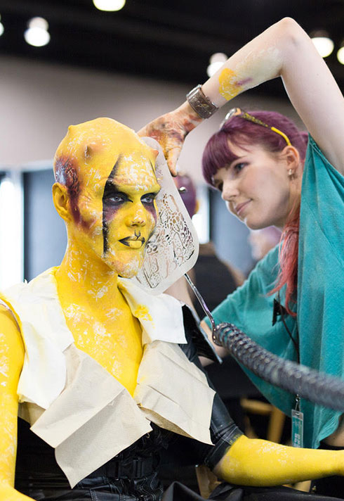 top makeup school graduate eva svobodova imats battle of the brushes character makeup