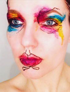 top makeup school graduate eva svobodova colourful doodles