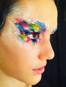 top makeup school graduate eva svobodova colourful makeup