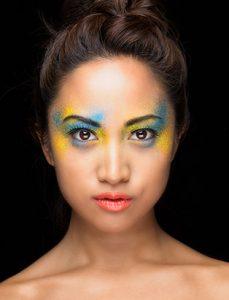 top makeup school graduate eva svobodova colourful powder