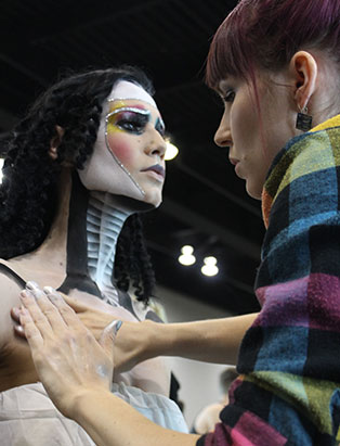 top makeup school graduate eva svobodova imats 2017 battle of the brush process