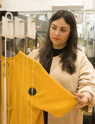 fashion marketing graduate janelle knihnitski yellow clothing