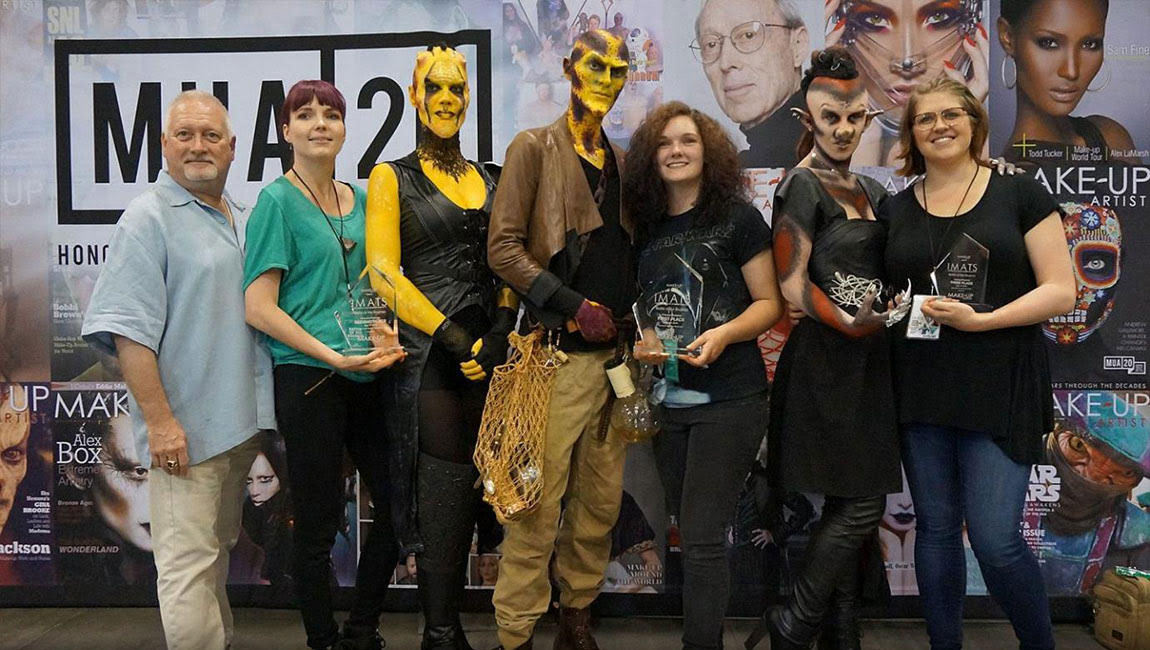 Blanche Macdonald FX makeup student winners at IMATS
