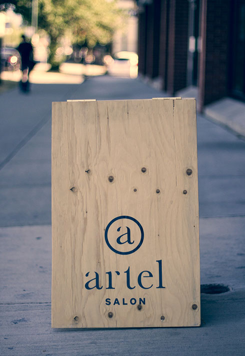 eliza trendiak salon owner artel sandwich board