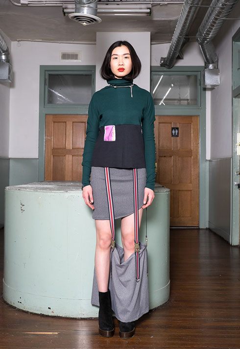top fashion design graduate alex s yu deconstructed skirt