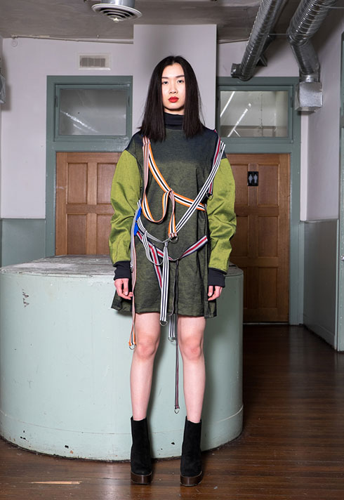 top fashion design graduate alex s yu jumper straps