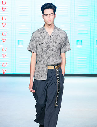 top fashion design graduate alex s yu ss18 vfw half tuck