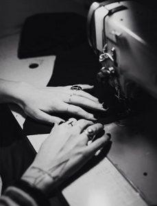 top fashion design school instructor graduate sara armstrong sewing machine