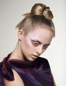 jon hennessey makeup sleek bun hairstyle