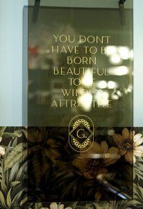the glamoury's inspirational signage