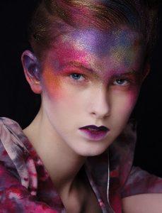 win liu glitter galaxy fashion makeup