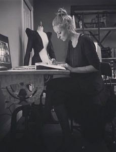 top fashion design graduate kirsten ley drawing