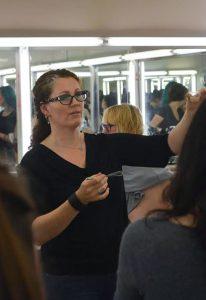 rebeccah delchambre top makeup artist classroom instructing