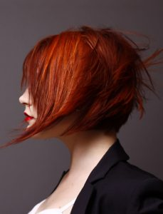 textured red bob by dale ewing