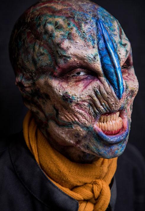 top makeup graduate daniel takahashi blue alien character