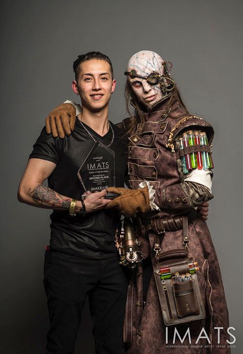 top makeup graduate daniel takahashi imats battle of the brushes trophy