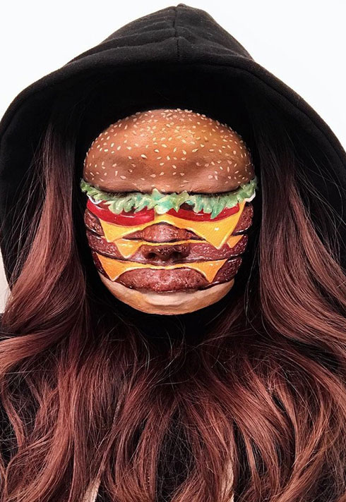 top makeup graduate mimi choi mimles optical illusionist hamburger