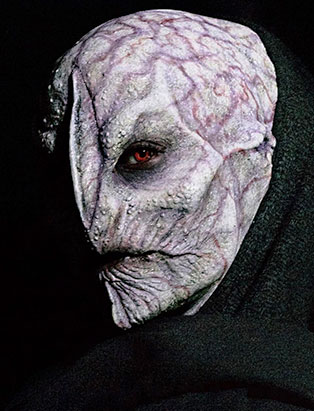 top makeup graduate daniel takahashi alien prosthetic mask