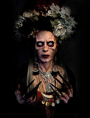 top makeup graduate daniel takahashi la catrina prosthetic makeup