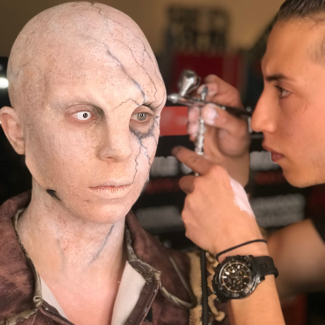top makeup graduate daniel takahashi imats battle of the brushes process