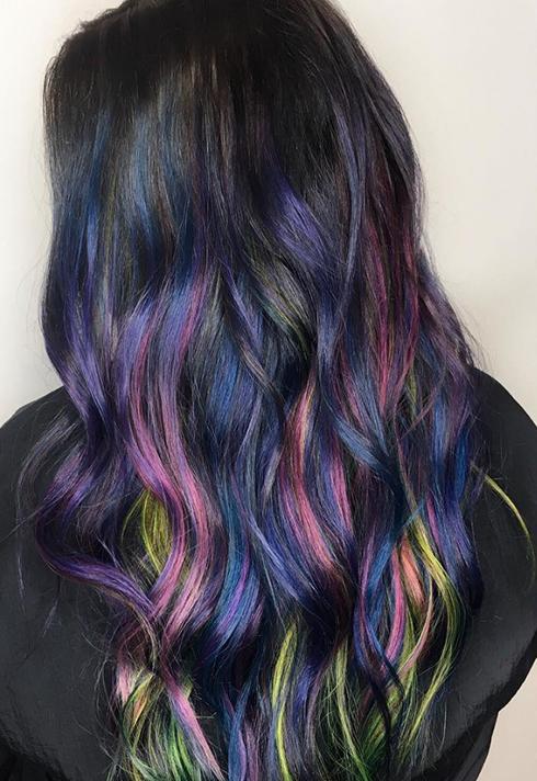 erin murphy pt hair grad dark rainbow dye