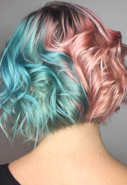 erin murphy two tone pastel hair