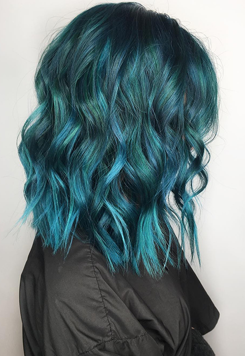 erin murphy teal fashion colour hair grad