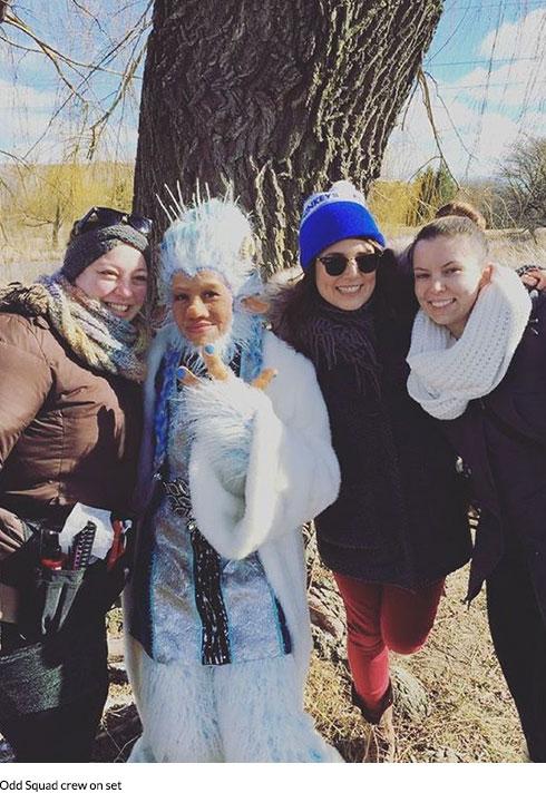 odd squad ice troll makeup team