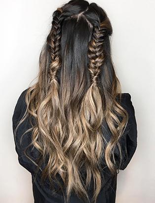 erin murphy hair grad bronze ombre braids