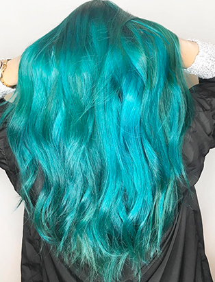 erin murphy juju salon mermaid hair green