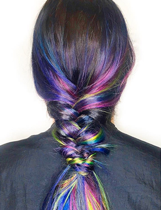 erin murphy hair grad rainbow braid