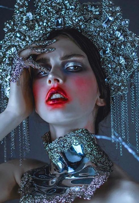 kelseyanna fitzgerald headpiece look makeup artist