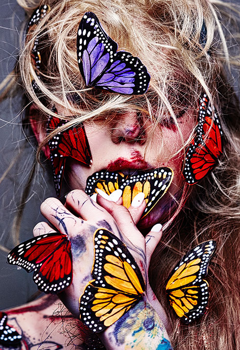 freelance makeup artist and graduate shawnna downing butterflies creative