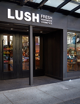 lush exterior workplace of visual merchandiser kyle ziegenhagel