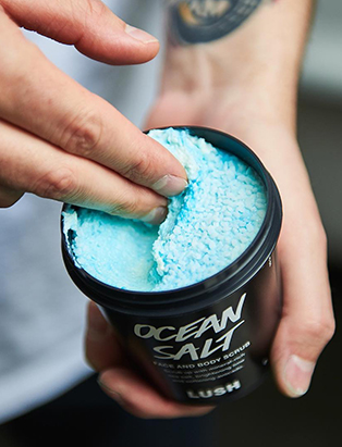 lush visual merchandiser kyle ziegenhagel ocean salts