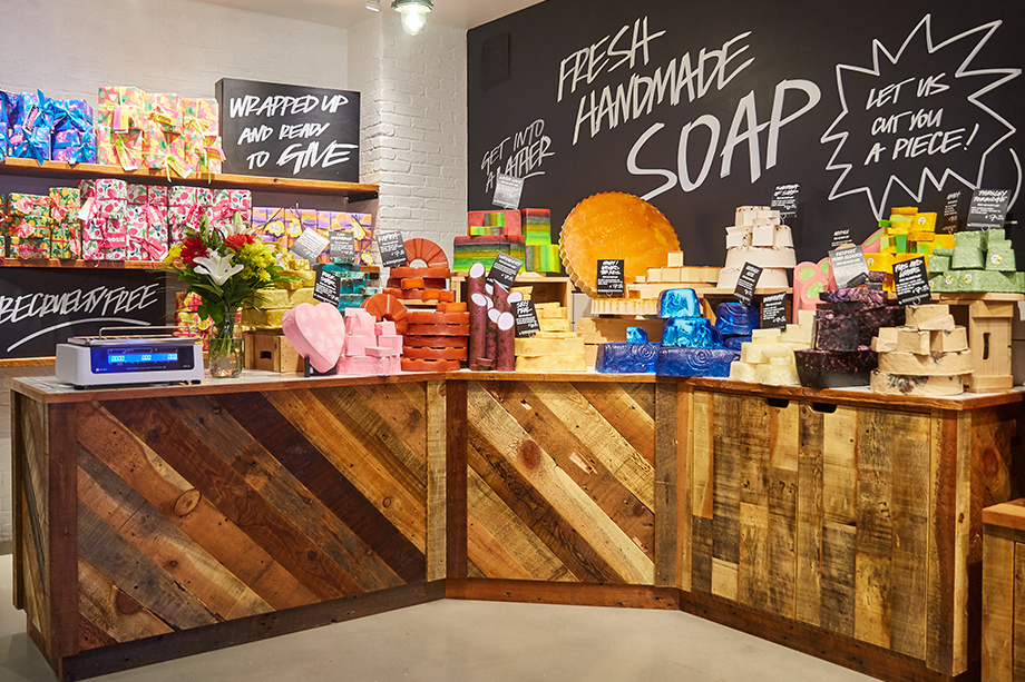 lush visual merchandiser kyle ziegenhagel store display