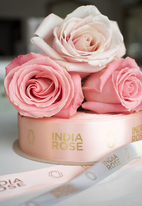india rose cosmeticary beauty boutique ribbon