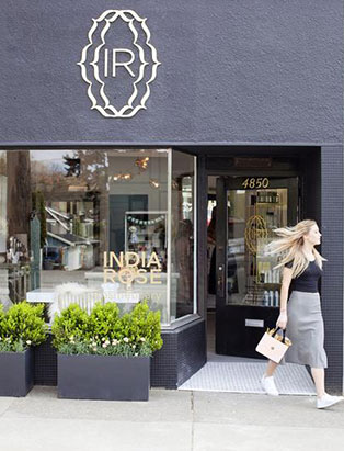 india rose cosmeticary beauty boutique exterior