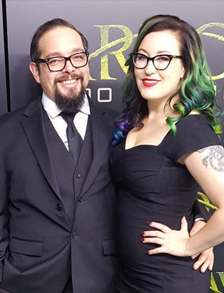 top film makeup graduate cayley giene at arrow premiere