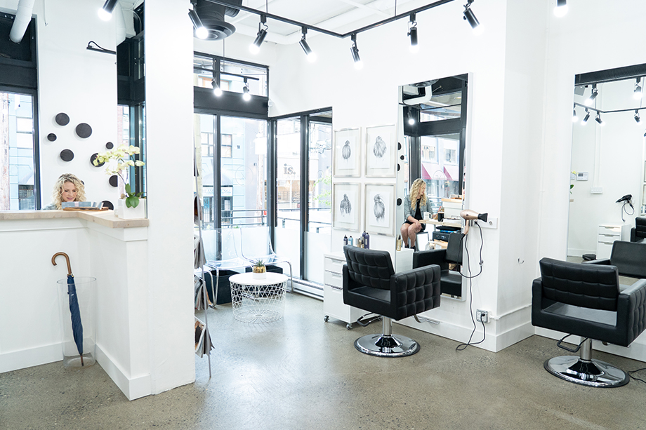 Topknot Salon interior bright