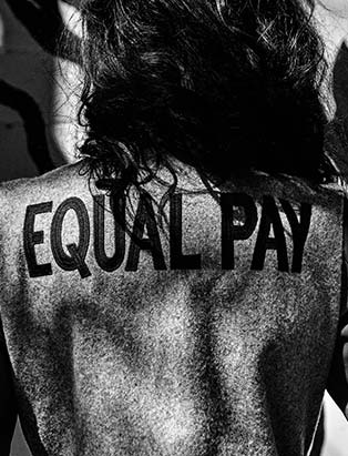 Hilary MacMillan, equal pay, collection, designer, designer feminism