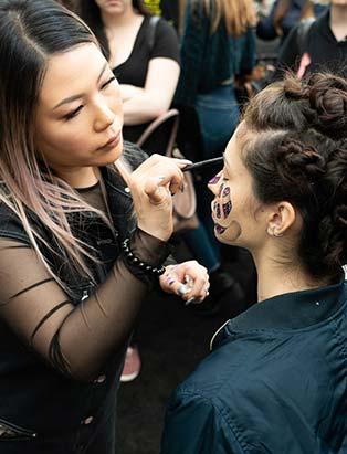 Mimi Choi,IMATS,Blanche Macdonald, demo, butterfly, makeup