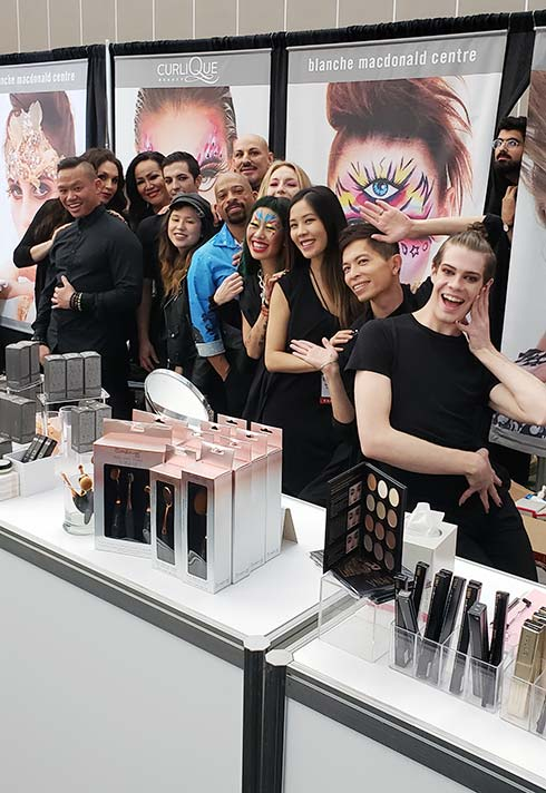 CurliQue, IMATS, teamwork, retail, fun